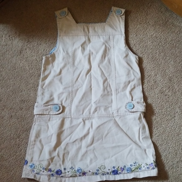 Sonoma Other - Khaki jumper with embroidered flowers size 6